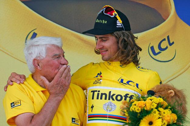 Petrovi Saganovi blahoželala aj cyklistická legenda Raymond Poulidor.