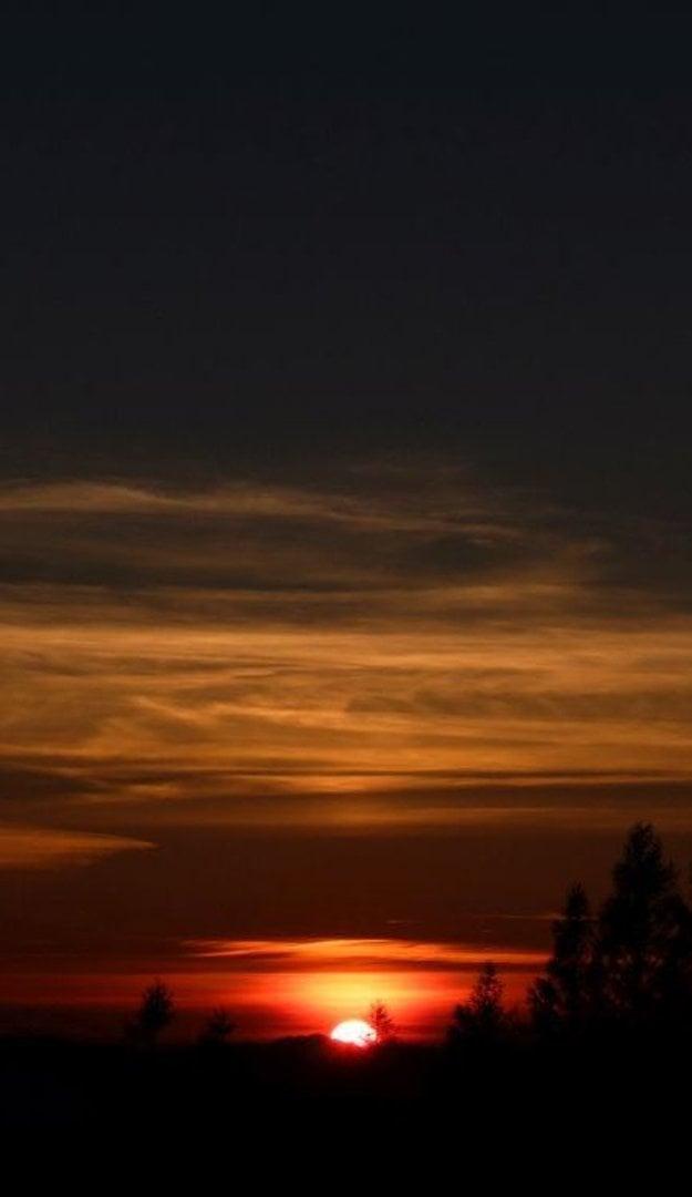 Západ Slnka je jednou z najkrajších vecí, ktoré môžete vidieť.