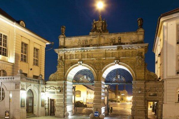 Brána pivovaru Plzeňský prazdroj