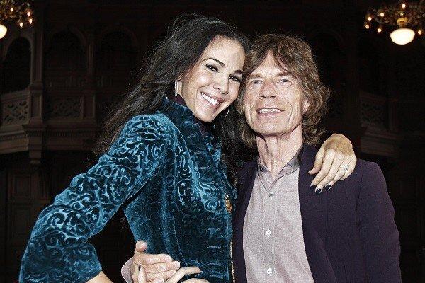 L'Wren Scottová (vľavo) s Mickom Jaggerom.