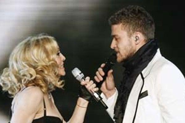 Madonna a Justin Timberlake.