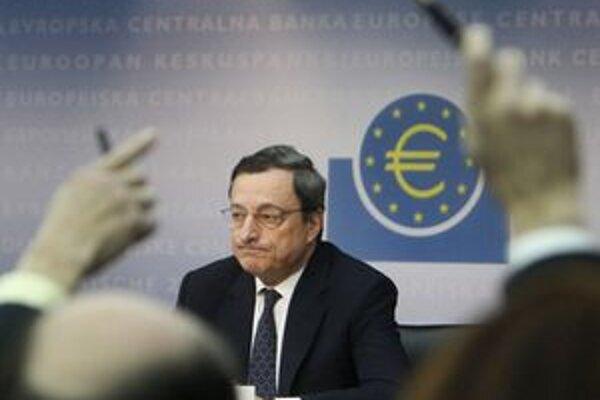 Šéf ECB Draghi.