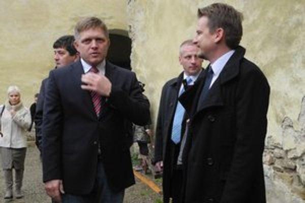 Premiér Robert Fico na hrade Ľubovňa.
