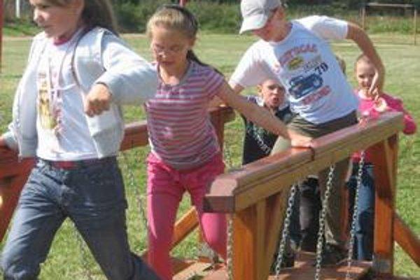Detská radosť. Zelenú telocvičňu si deti užijú mimo zimy.