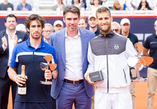 Martin Kližan (vpravo) slávi turnajové víťazstvo.