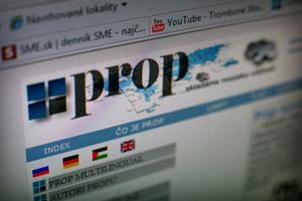 Stránka prop.sk je na predaj a vyšetruje ju polícia.
