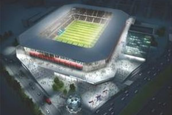 Takto má vyzerať Národný futbalový štadión. Mal by pojať 22tisíc divákov, a to už v roku 2012.