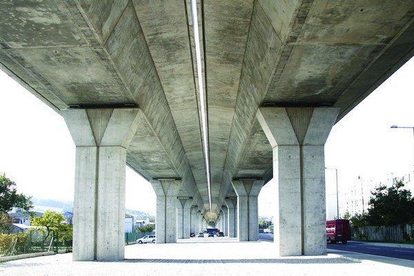 Pod viaduktom v Krškanoch.