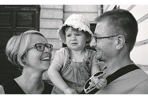 S manželom Michalom a Matildou v Banskej Štiavnici.
