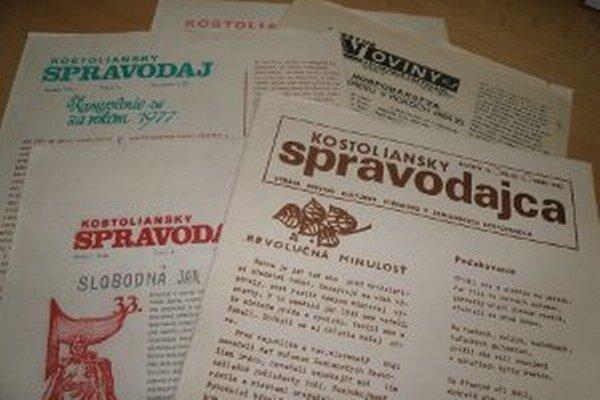 V Kostoľanoch začali obecné noviny vychádzať už v roku 1971.