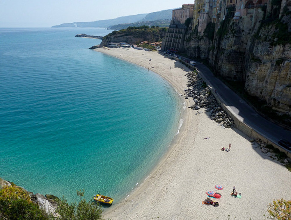 Pláž na Santa Maria dell'Isola.