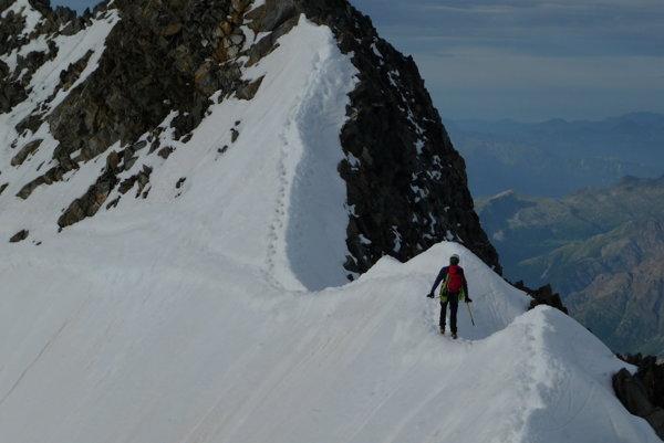 Posledná časť pred vrcholom Piz Bernina.