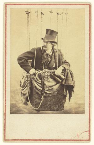 """Nadarov autoportrét. Verne podľa neho vytvoril postavu, o ktorej píše: """"Je to nevšedný Parížan, duchom rovnako smelý ako čulý."""""""