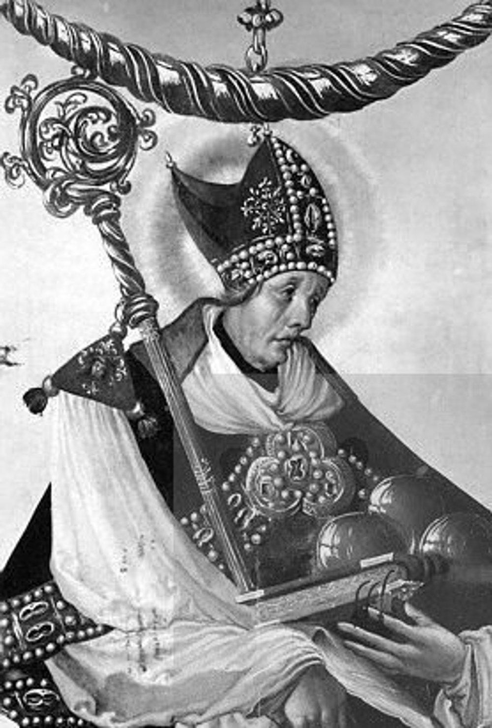 Atribútmi svätého Mikuláša, s ktorými ho zvyčajne znázorňujú, sú odev biskupa, tri mešce peňazí, tri chleby, tri jablká, tri kamene, loď, kormidlo a kotva. Bol totiž patrónom detí, pekárov, námorníkov, majiteľov záložní, lekárnikov a rybárov.
