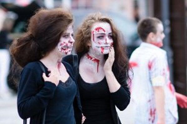 Zombie walk v Prievidzi.