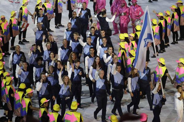 Izraelská výprava počas otváracieho ceremoniálu OH v Riu.