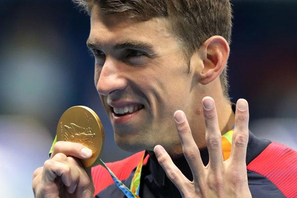 Michael Phelps získal v Riu šesť medailí, z toho päť zlatých.