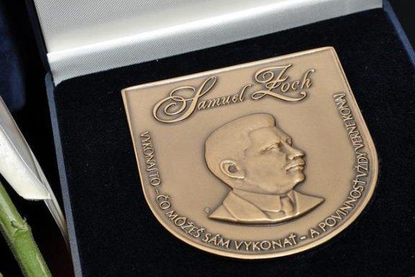 Laureáti budú honorovaní Cenou Samuela Zocha.