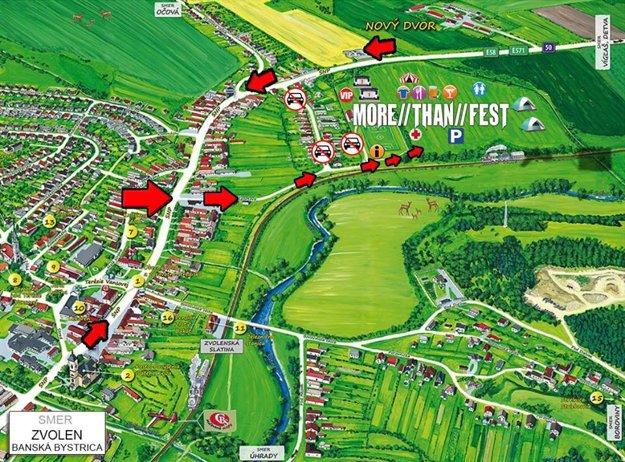 Plánik festivalového areálu