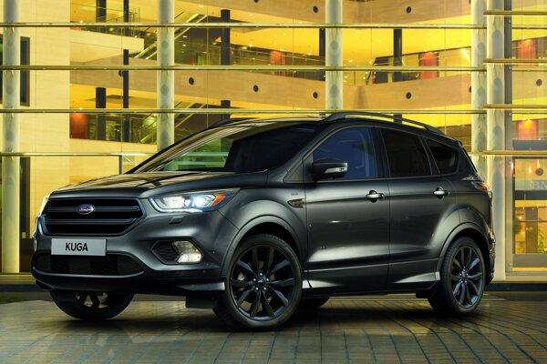 Športovo-úžitkový Ford Kuga ST-Line. Firma Ford rozšíri svoj sortiment športovo ladených modelov s doplnkovým označením ST-Line aj o model Kuga ST-Line, ktorý sa dizajnérskymi doplnkami odlišuje od bežného modelu Kuga.