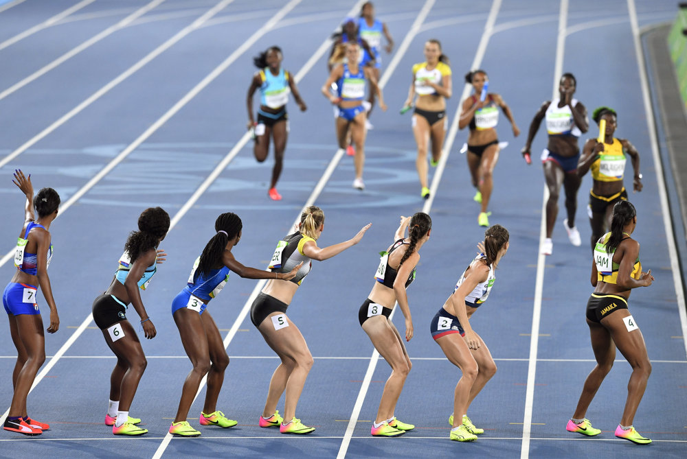 Atletika, štafeta na 4x400 metrov.
