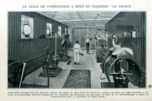 V roku 1914 nemohla posilňovňa chýbať ani na zaoceánskom parníku.
