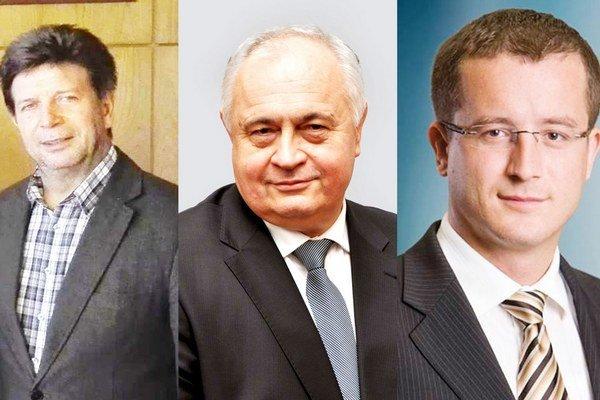 Zľava Rudolf Urbanovič, Michal Slašťan a Ľudovít Beťko.