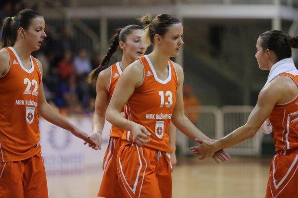 Ružomberské basketbalistky.