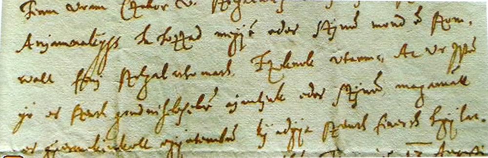 Po slovensky písaný list z roku 1620, Juraj Turzo píše manželke Alžbete Coborovej.