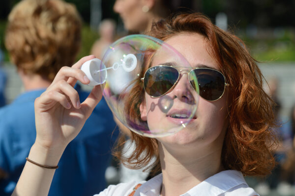 Bubble day sa konal vo viacerých mestách na Slovensku, vrátane Handlovej a Prievidze.