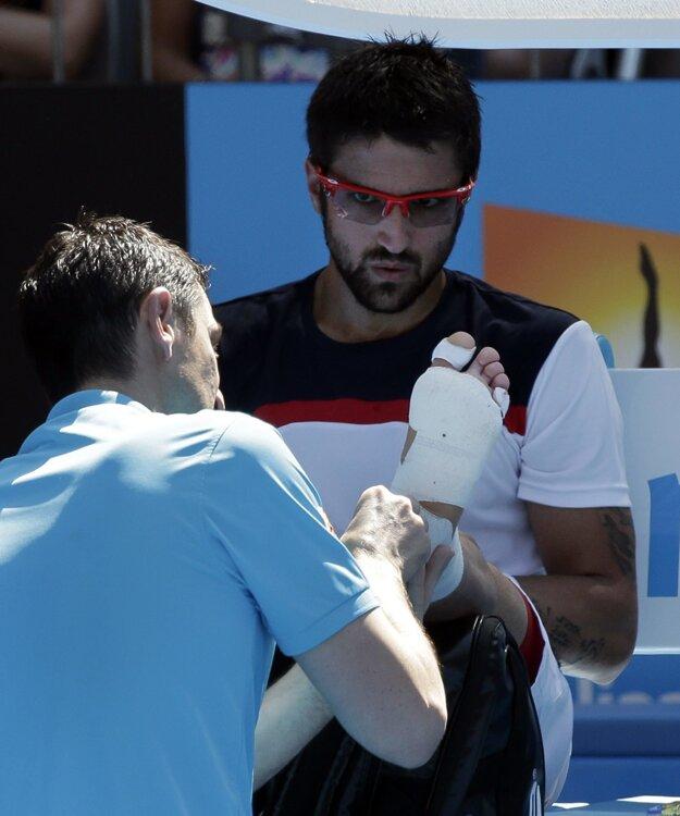 Janko Tipsarevič si zranení užil viac než dosť.