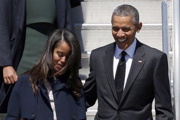 Barack Obama s dcérou Maliou.