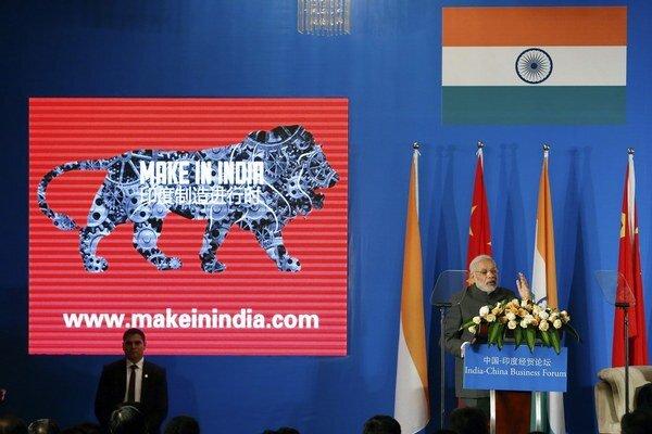 Premiér Módí by chcel mať aj z Indie továreň pre celý svet.