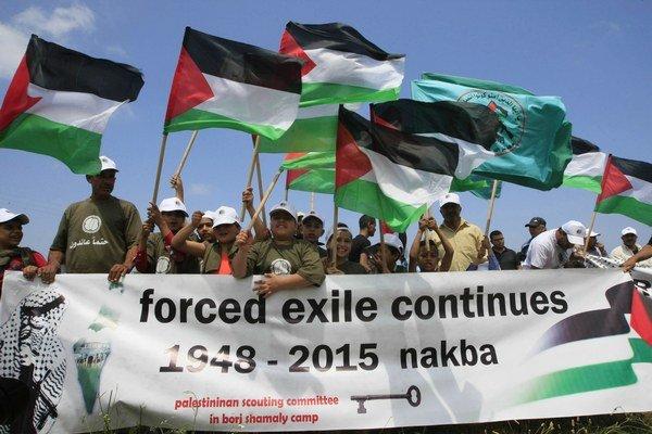Palestínčania si každoročne pripomínajú útek a vyhnanie po založení štátu Izrael.
