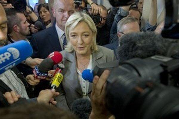 Predsedníčka francúzskeho Národného frontu Marine Le Penová.