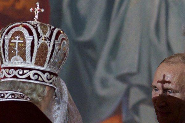 Patriarcha Kirill a ruský prezident vladimír Putin.
