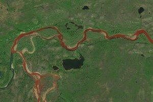 Zafarbenie rieky spôsobili železnaté soli.