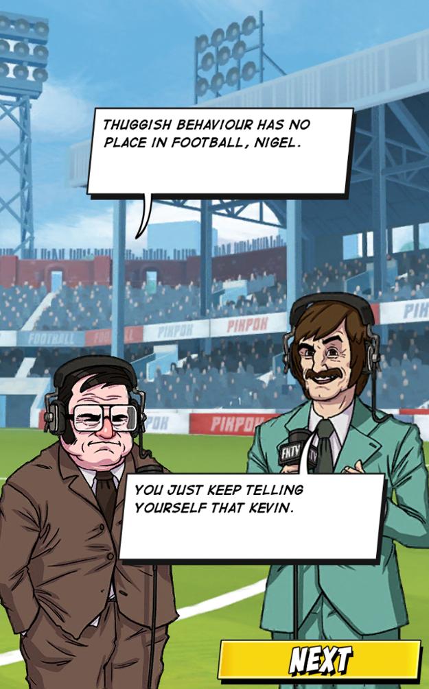 Skvelá komentátorská dvojica Nigel a Kevin.