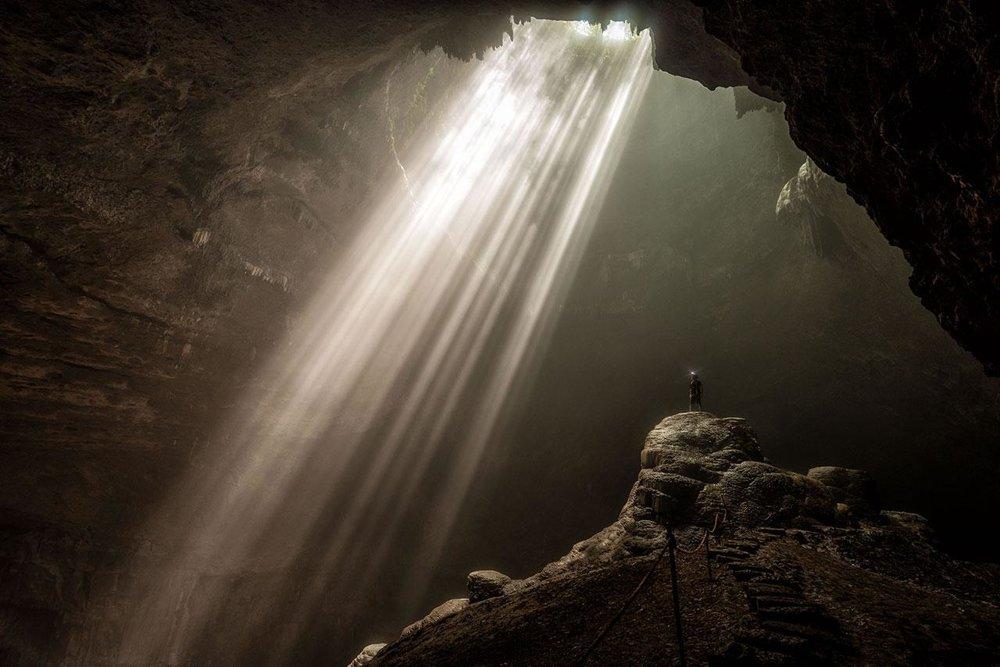 Jaskyňa Jomblang, Indonézia.