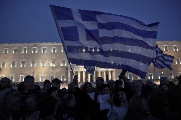 Protest v Aténach.