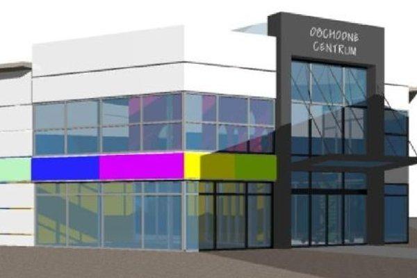 Vizualizácia južného vstupu do obchodného centra.