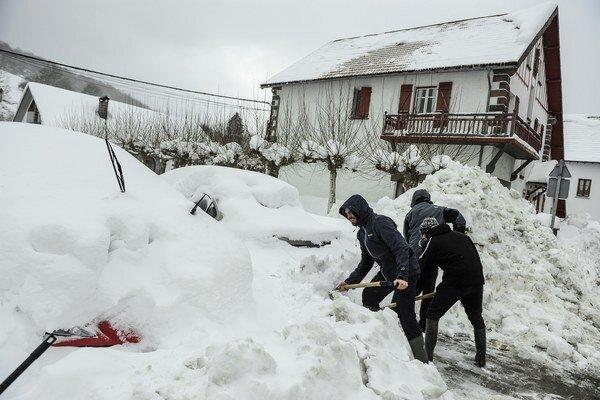 Španielsko zasiahla snehová víchrica.