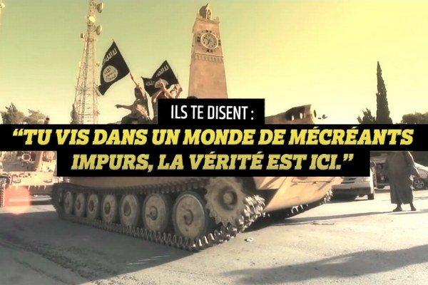 Francúzi chcú prostredníctvom videa odradiť možných džihádistov od toho, aby sa pridali k islamistickým bojovníkom v Sýrii a Iraku.