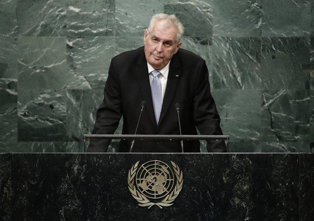 Český prezident Miloš Zeman v New Yorku.