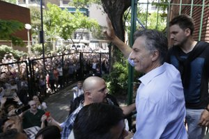 Prezidentský kandidát Mauricio Macri