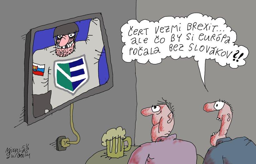 Čo by bola EÚ bez slovenského hokeja? (kreslí Sliacky) 26. september