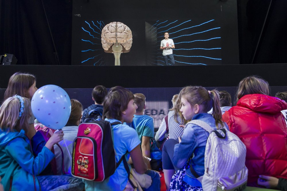 3D hologram mozgu.