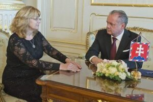 Prezident Andrej Kiska sa stretol s predsedníčkou Súdnej rady Janou Bajánkovou.