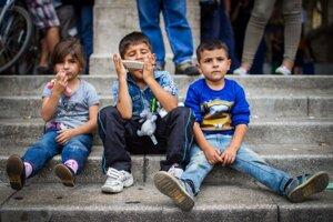 Utečenci v Budapešti.