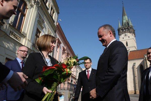 Prvá žena na čele radnice krajského mesta víta prezidenta Andreja Kisku.